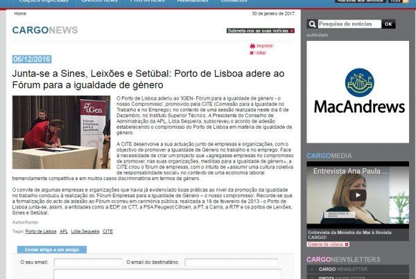 Noticia Cargos edições Lda