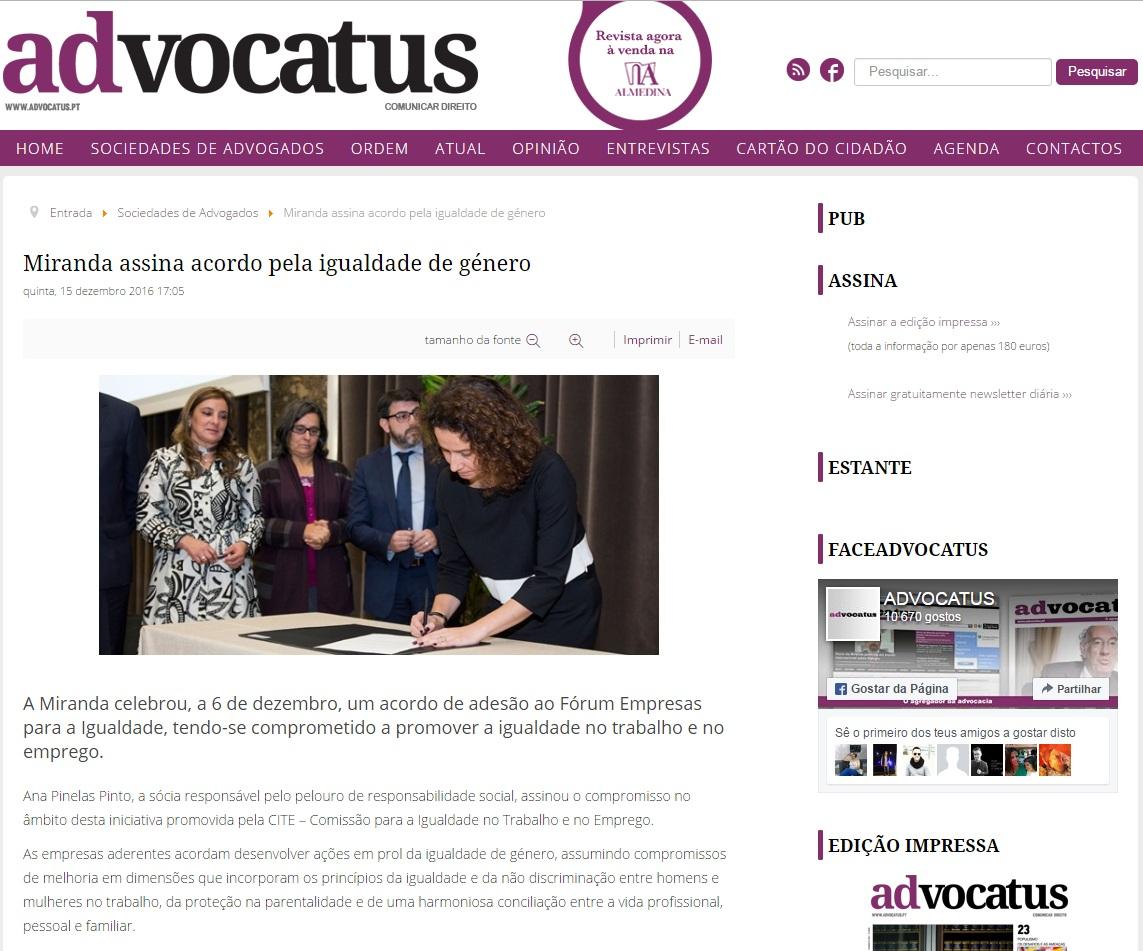 Noticia adVOCATUS