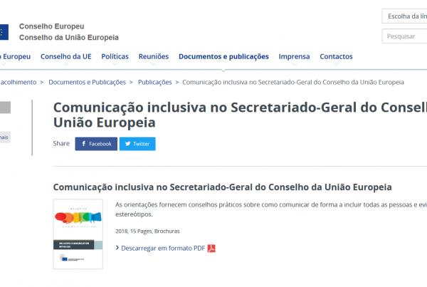 Comunicação inclusiva no Secretariado-Geral do Conselho da União Europeia