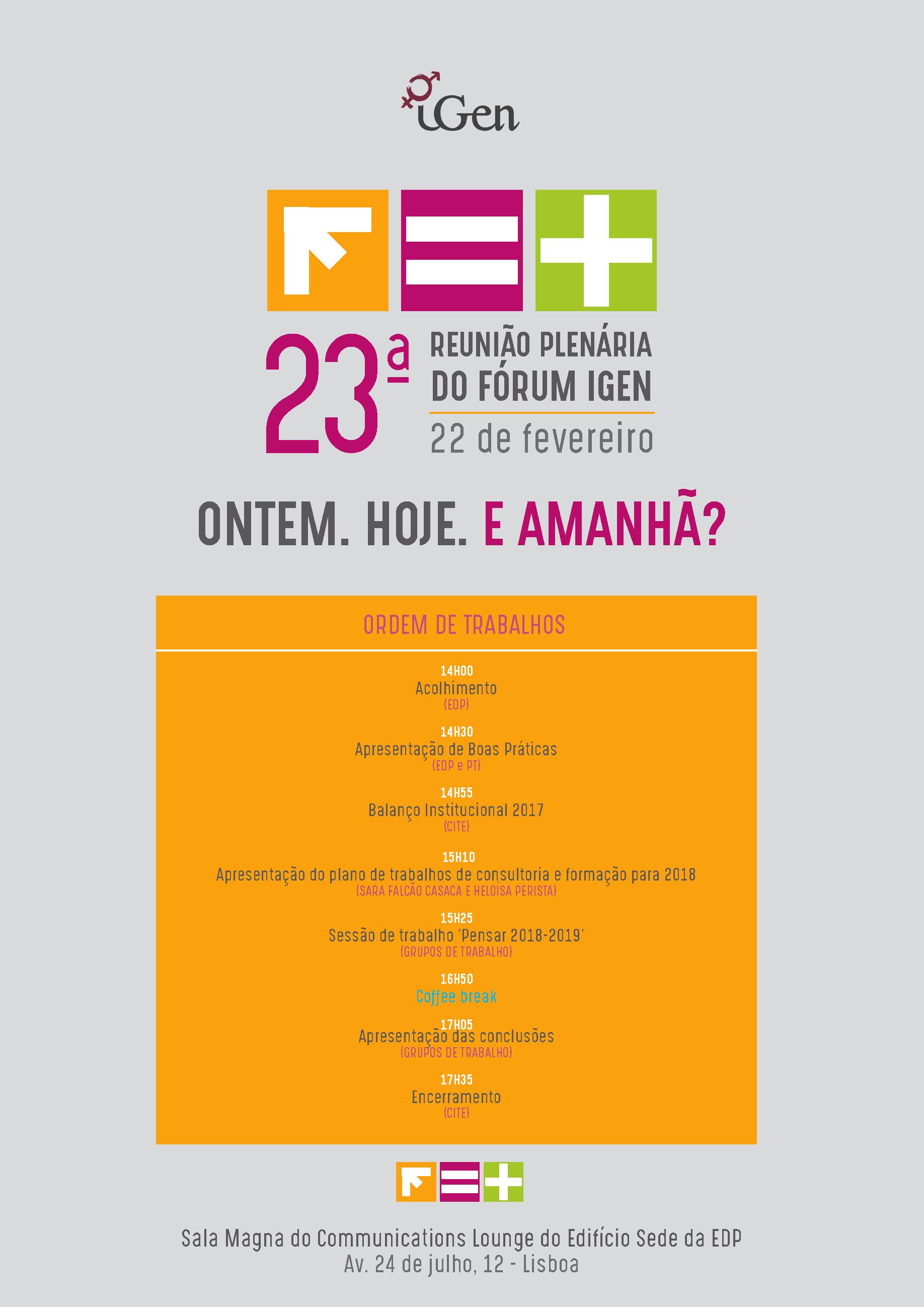 Programa 23ª Plenária