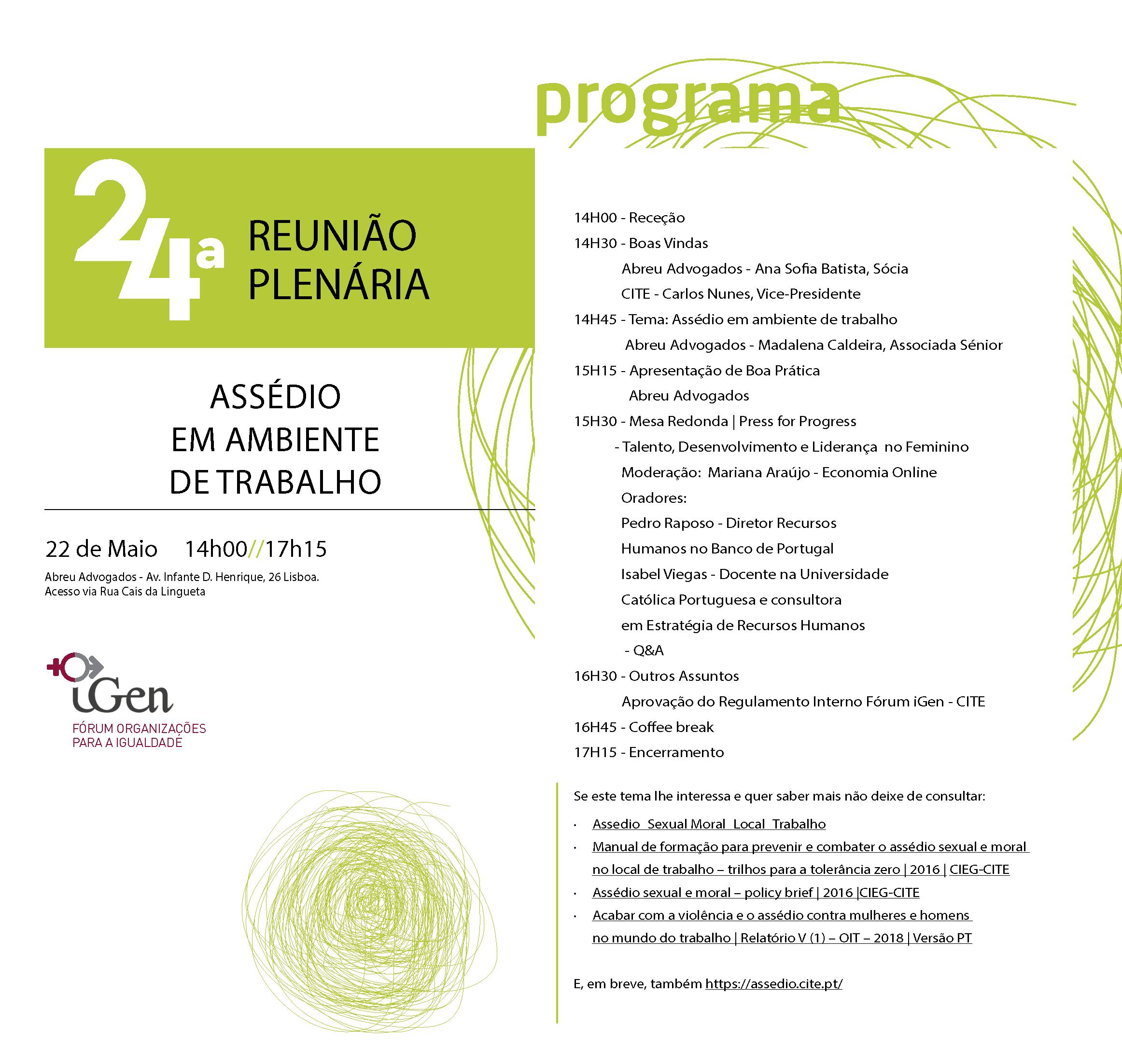 Programa 24ª Plenária