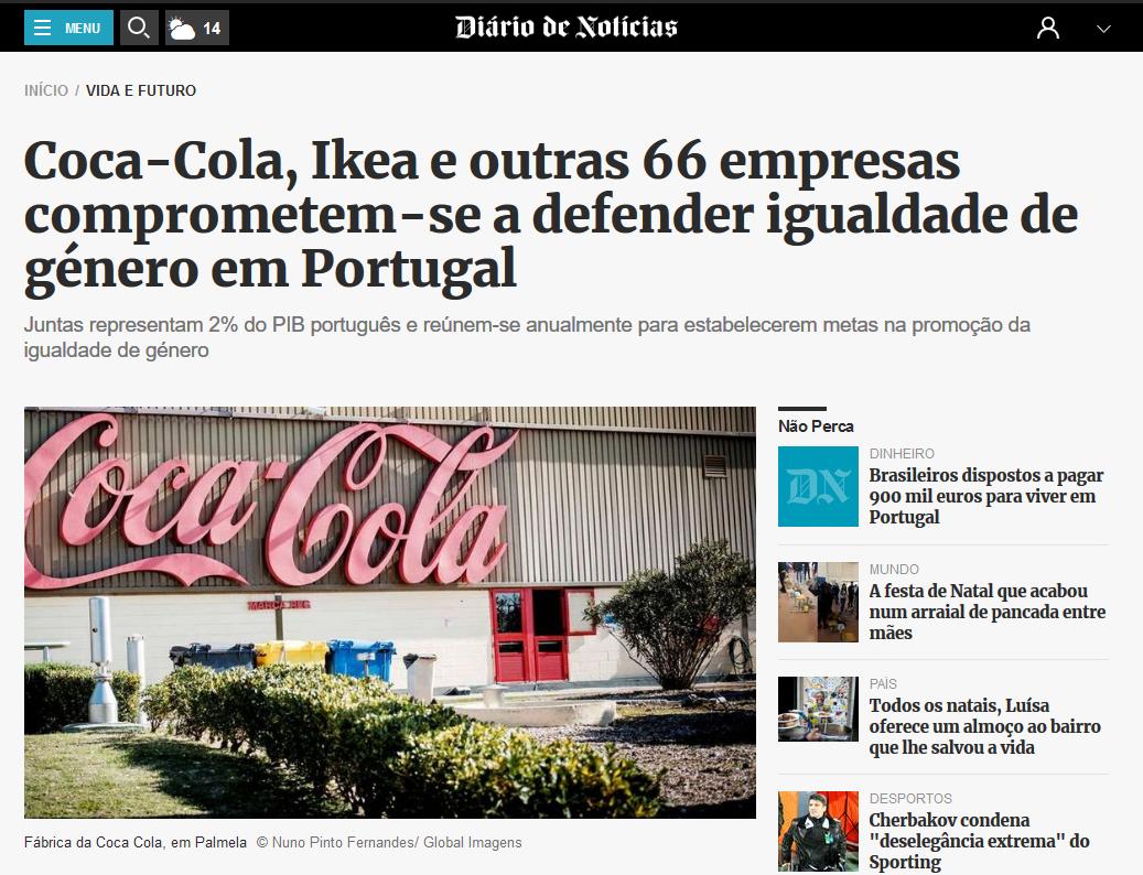 Coca-Cola, Ikea e outras 66 empresas comprometem-se a defender igualdade de género em Portugal