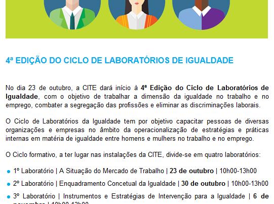 Ciclo de Laboratorios de Igualdade CITE