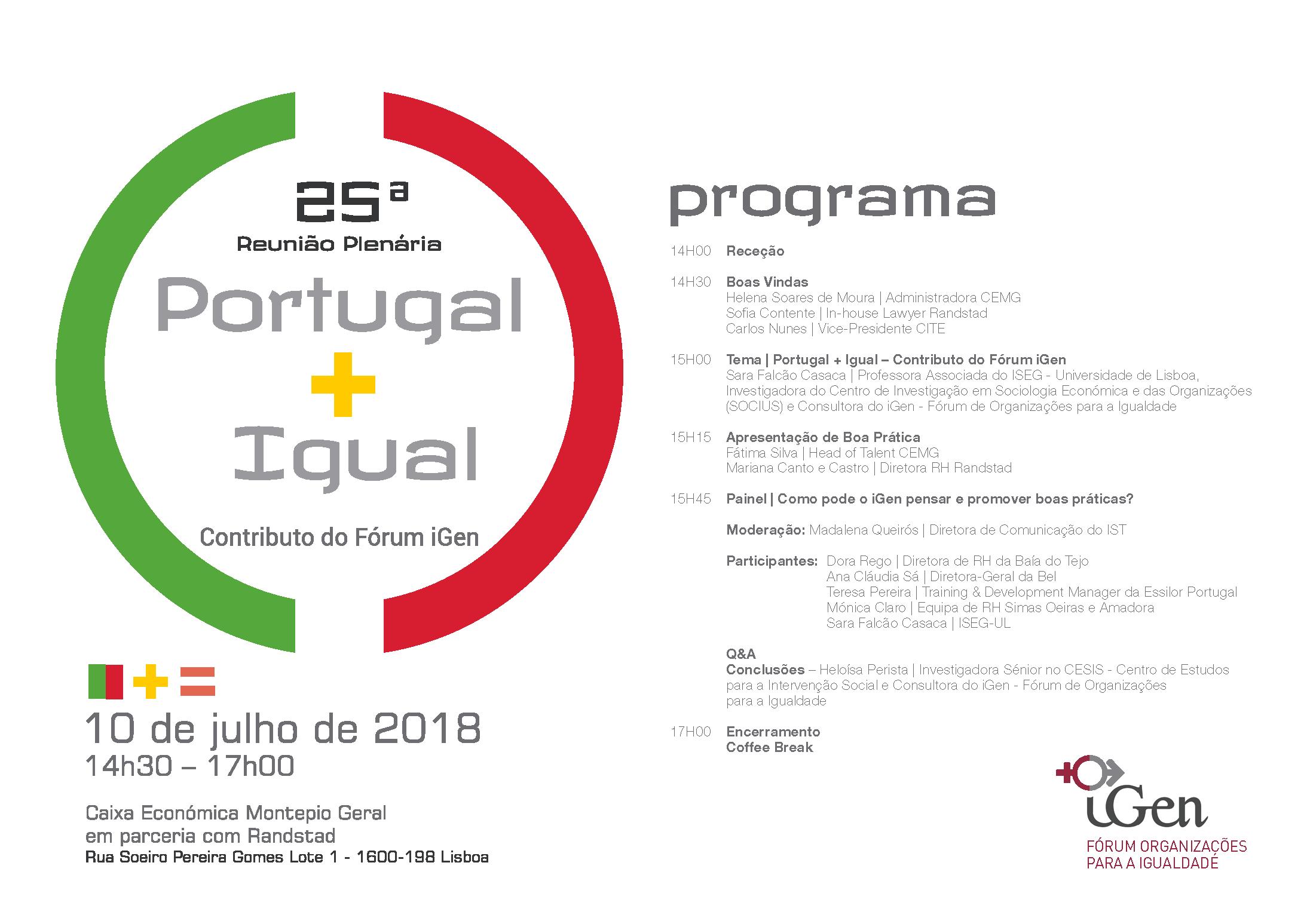 Programa 25ª Plenária