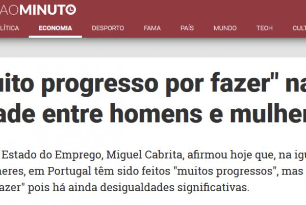 """Há """"muito progresso por fazer"""" na igualdade entre homens e mulheres"""